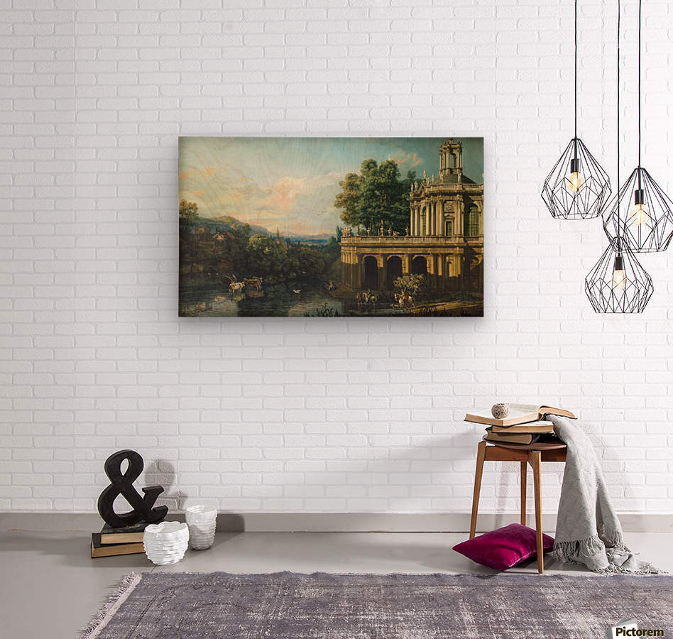 Architectural Caprice with a Palace  Wood print
