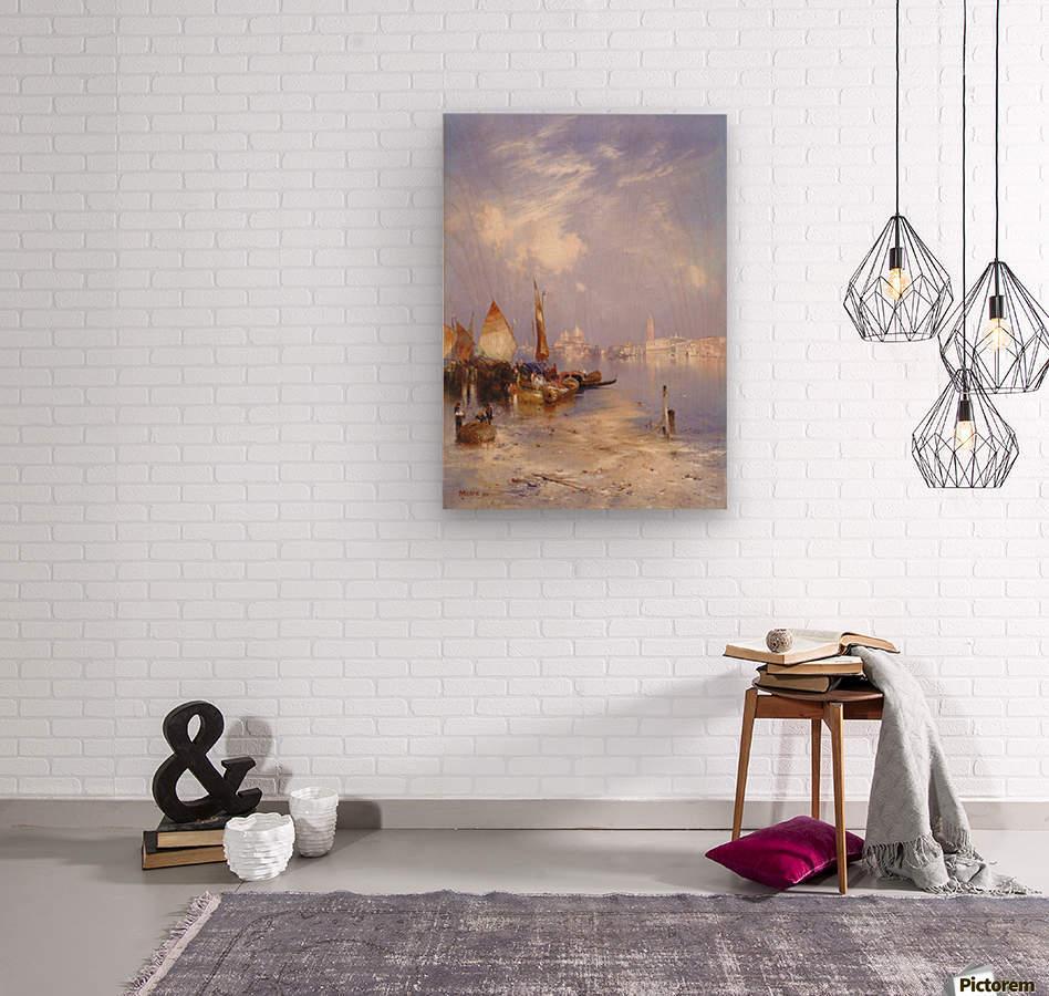 Entering Venice  Wood print