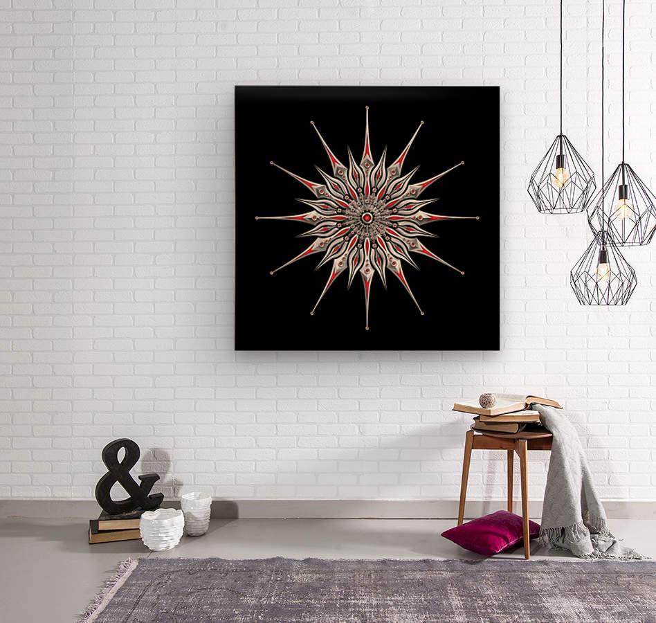 Starfish Fusion Mandala  Wood print