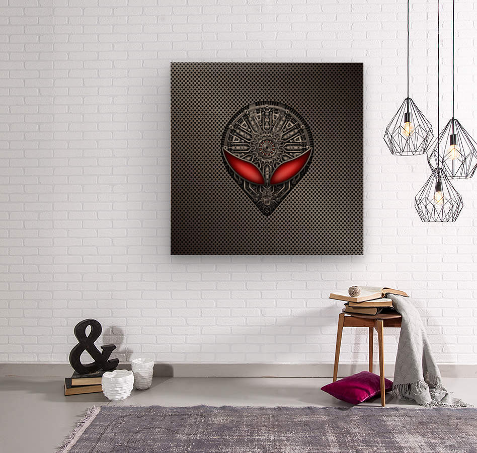 Altered Carbon Red Eye Reactor  Wood print