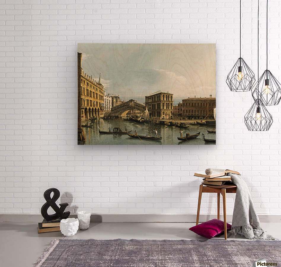 Venice. View of the Grand Canal with the Rialto Bridge, Seen from the North  Wood print