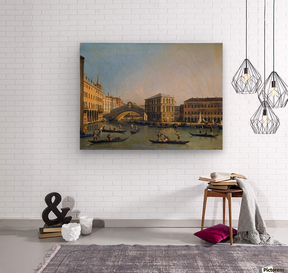 Rialto Bridge Canaletto  Wood print