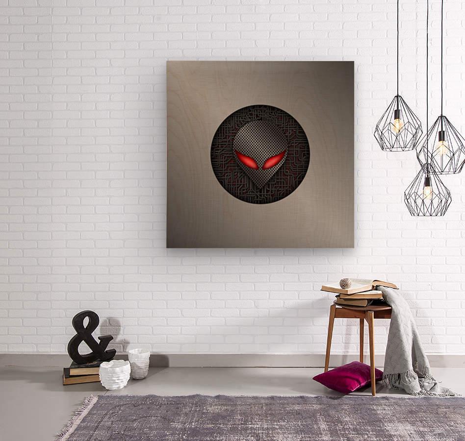 Altered Carbon Red Eye Demon  Wood print
