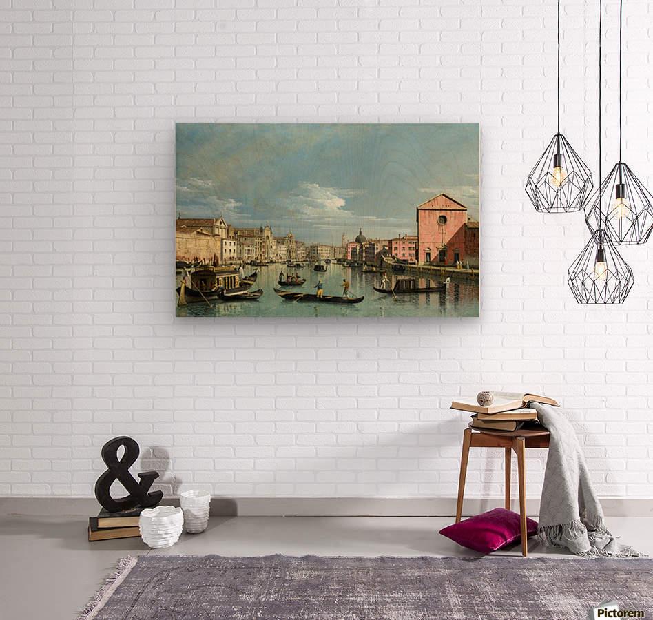 The Grand Canal facing Santa Croce  Wood print