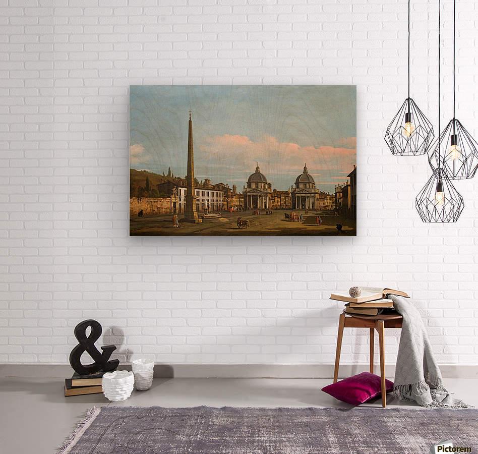 The Piazza del Popolo, Rome  Wood print