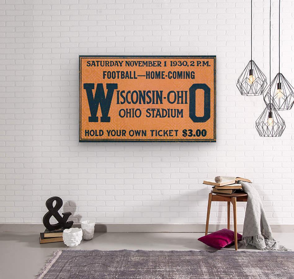 ticket stub metal sign osu buckeyes football vintage tickets wood prints  Wood print