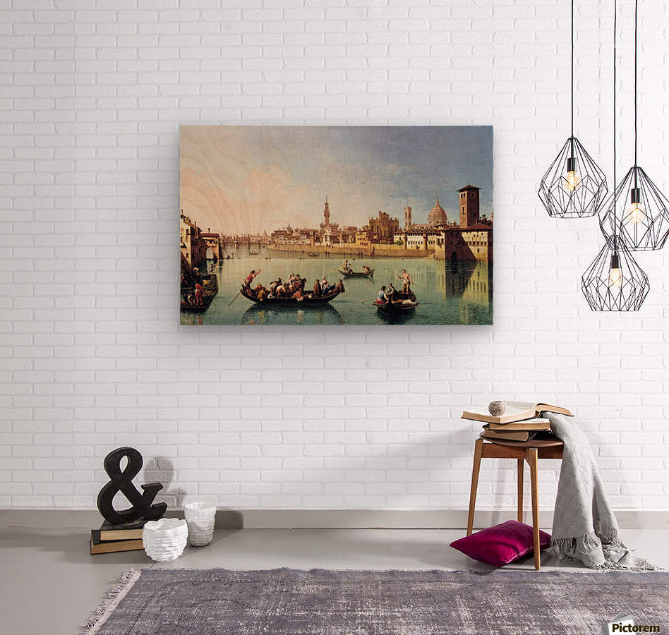 View af the Arno in Florence  Wood print