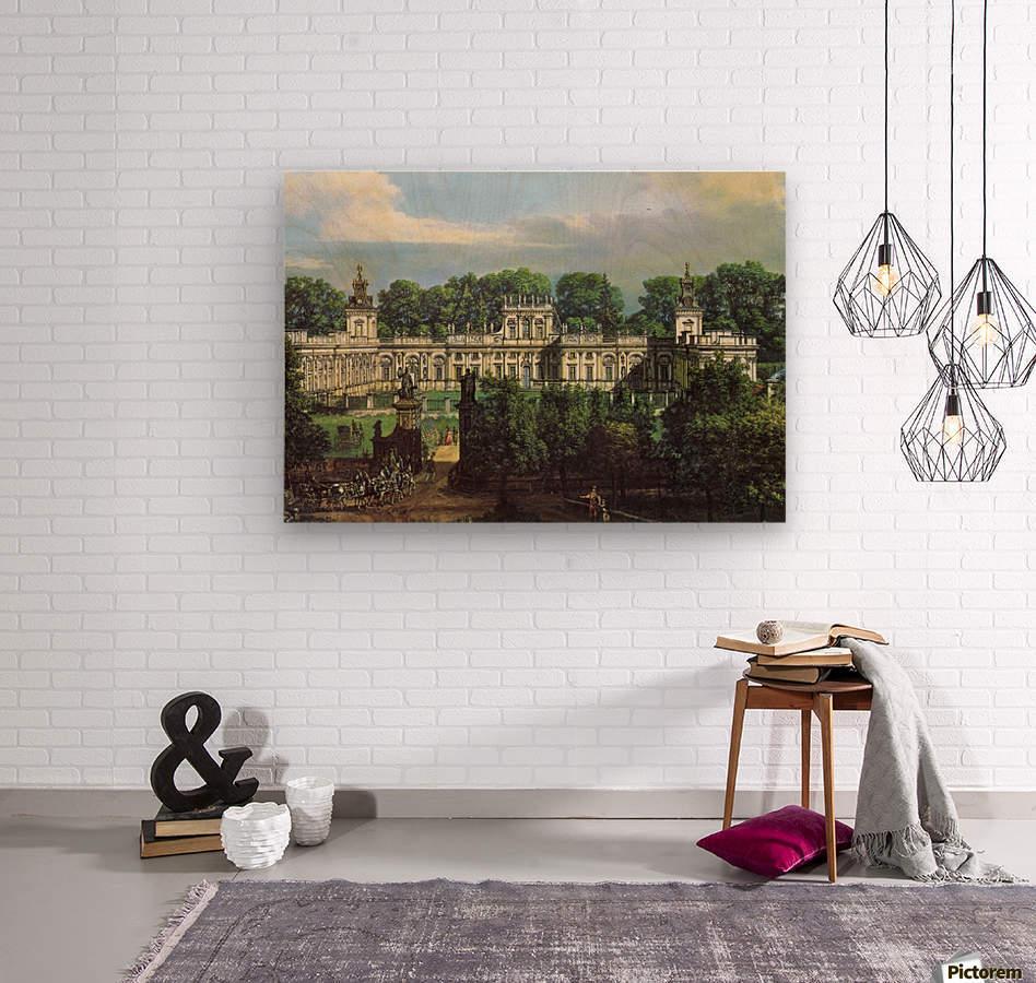 View of Palace in Warszawa  Wood print