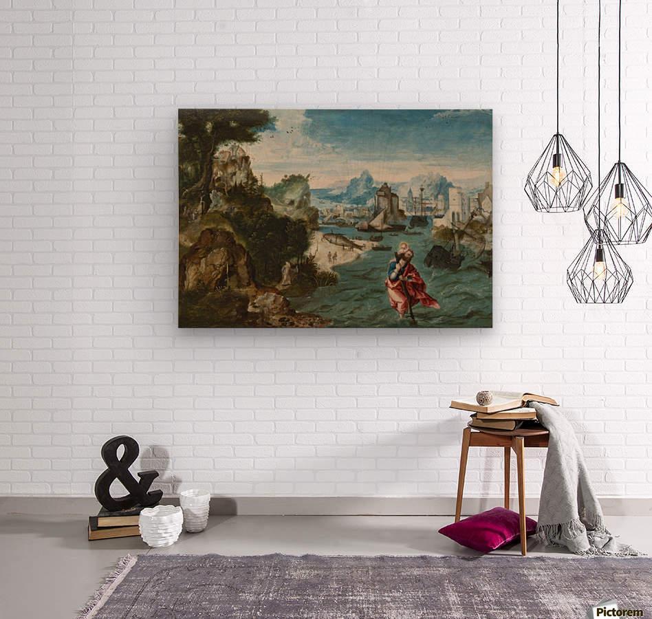 Landschap met Sint Christoffel  Wood print
