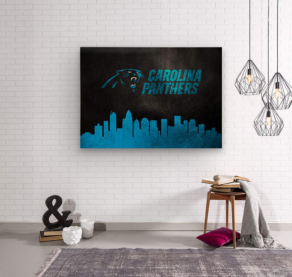 Carolina Panthers Skyline  Wood print
