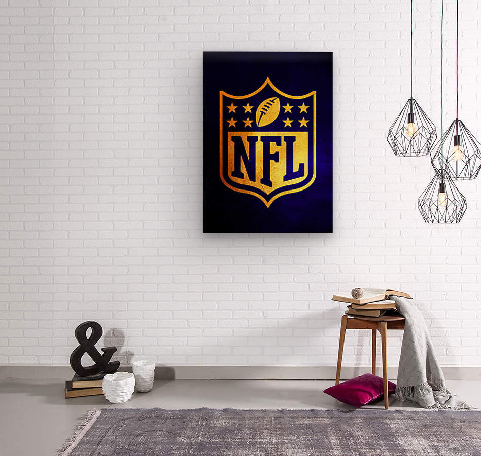 Nfl logo Blue Gold Skyline  Wood print