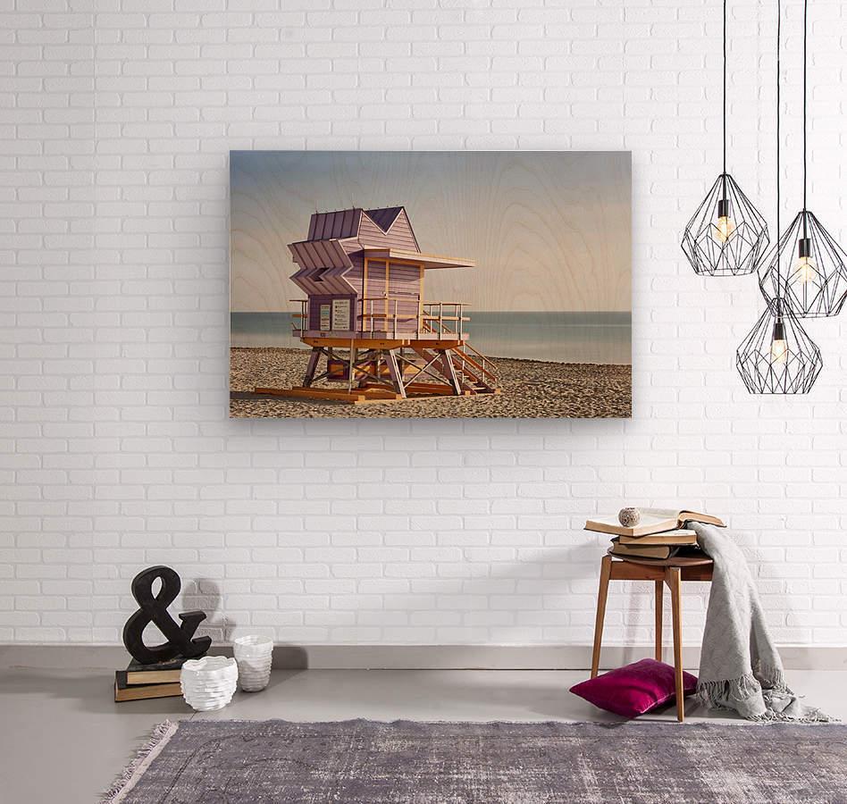 Miami Beach 056  Wood print