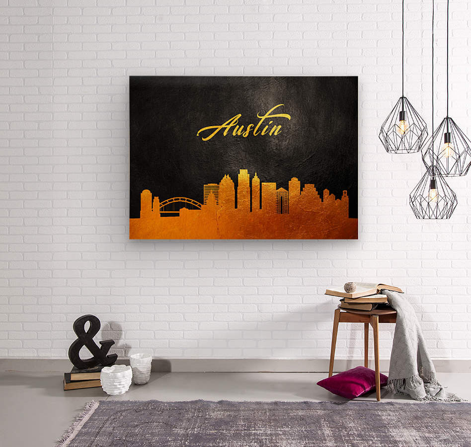 Austin Texas Skyline Wall Art  Wood print
