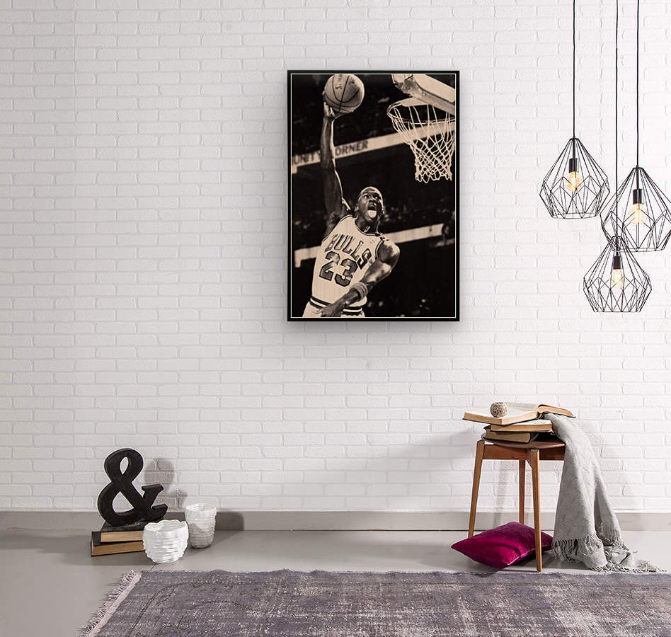 Michael Jordan Art Print  Wood print