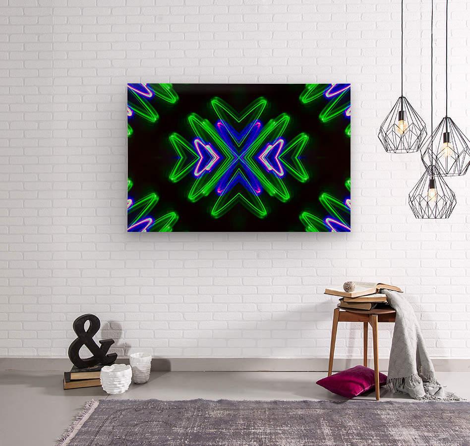 Neon Lights   Wood print