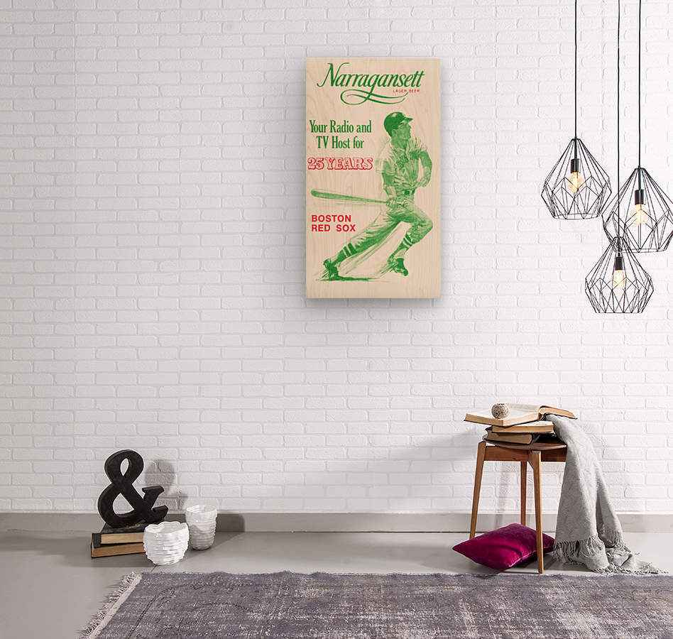 1969 Narragansett Beer Red Sox Ad  Wood print