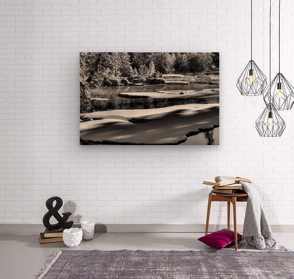 Frosty Creek In Alberta   Wood print