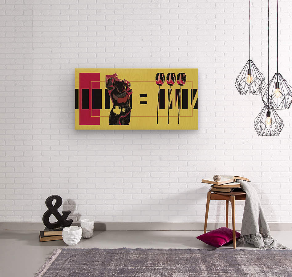 3 Lips  Wood print
