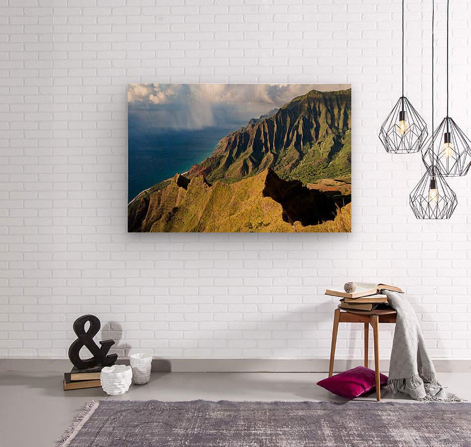 The Cliff Sides of Kauai  Wood print