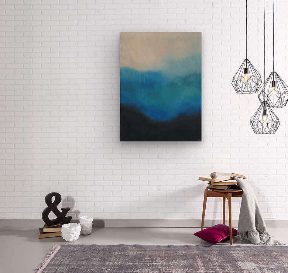 Tranquility Blue II.  Wood print