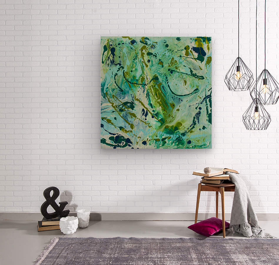 Seaweed Confetti  Wood print