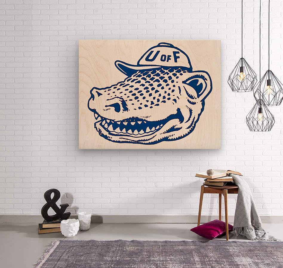 vintage florida gators wall art blue  Wood print