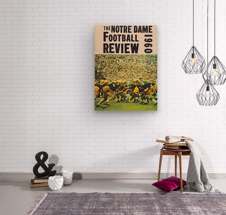 1960 notre dame football  Wood print