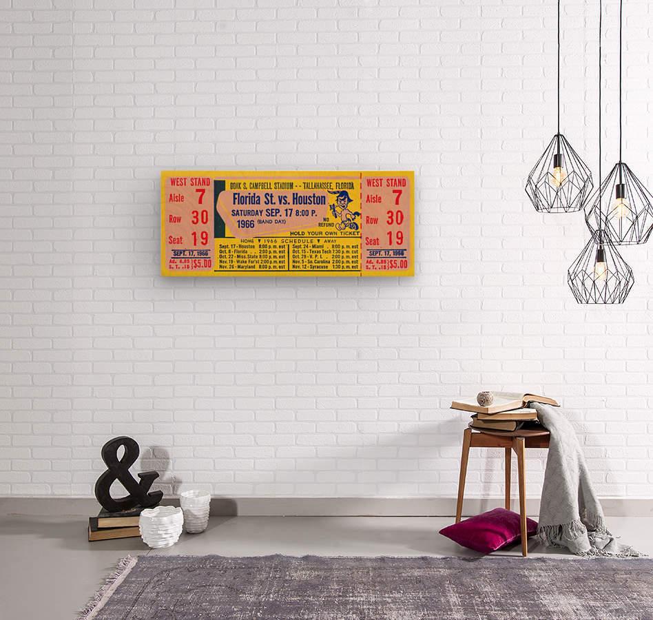 florida state seminoles ticket stub art  Wood print