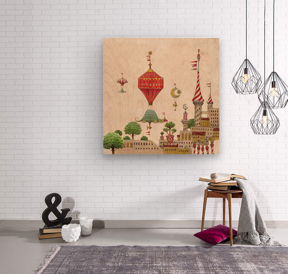 Tartlellino Balloone  Wood print