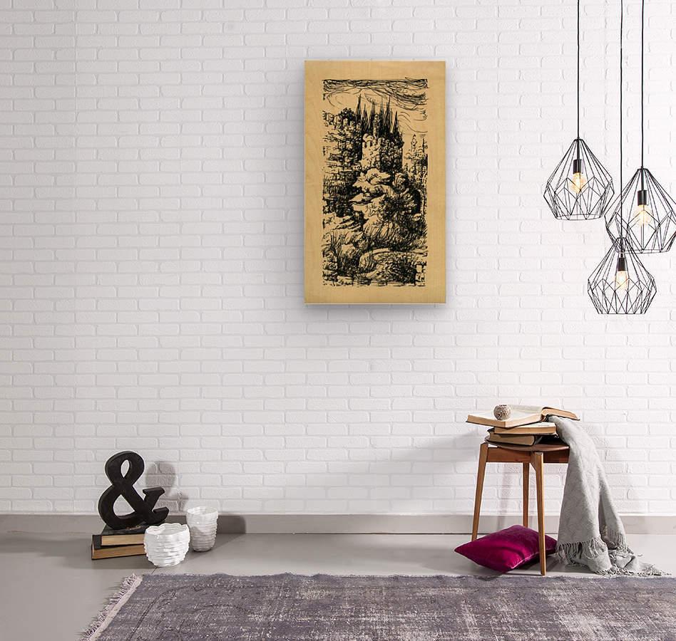 BNC1967-023  Impression sur bois
