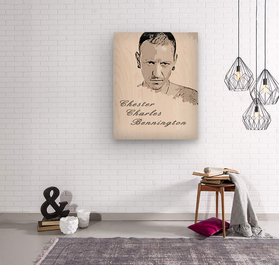 Chester Charles Bennington  Wood print