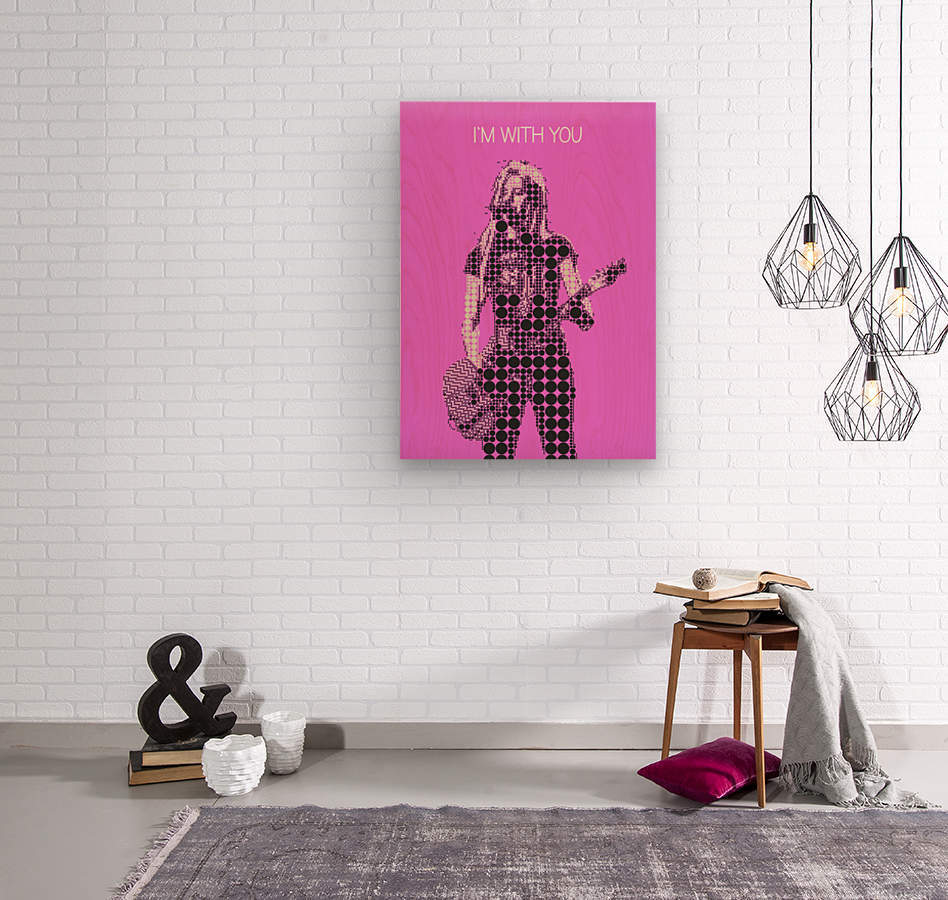 im with you   Avril Lavigne  Wood print