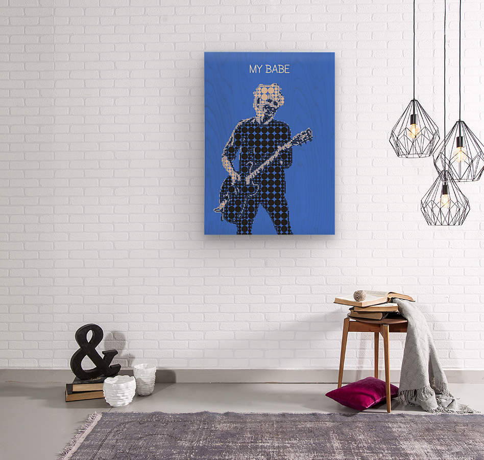 My Babe   Keith Richards  Wood print