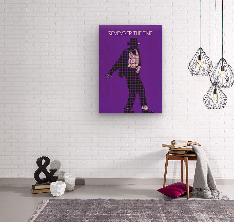 remember the time   Michael Jackson  Wood print