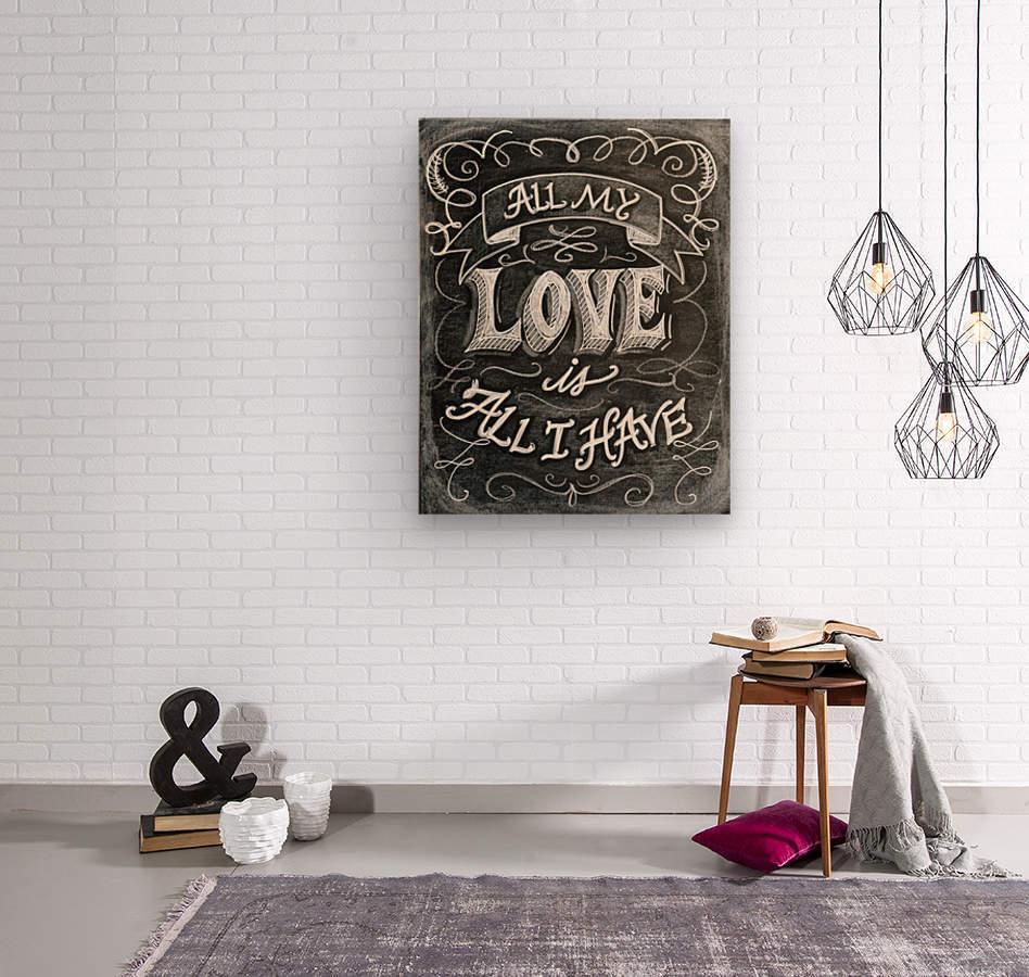allloveprint  Wood print