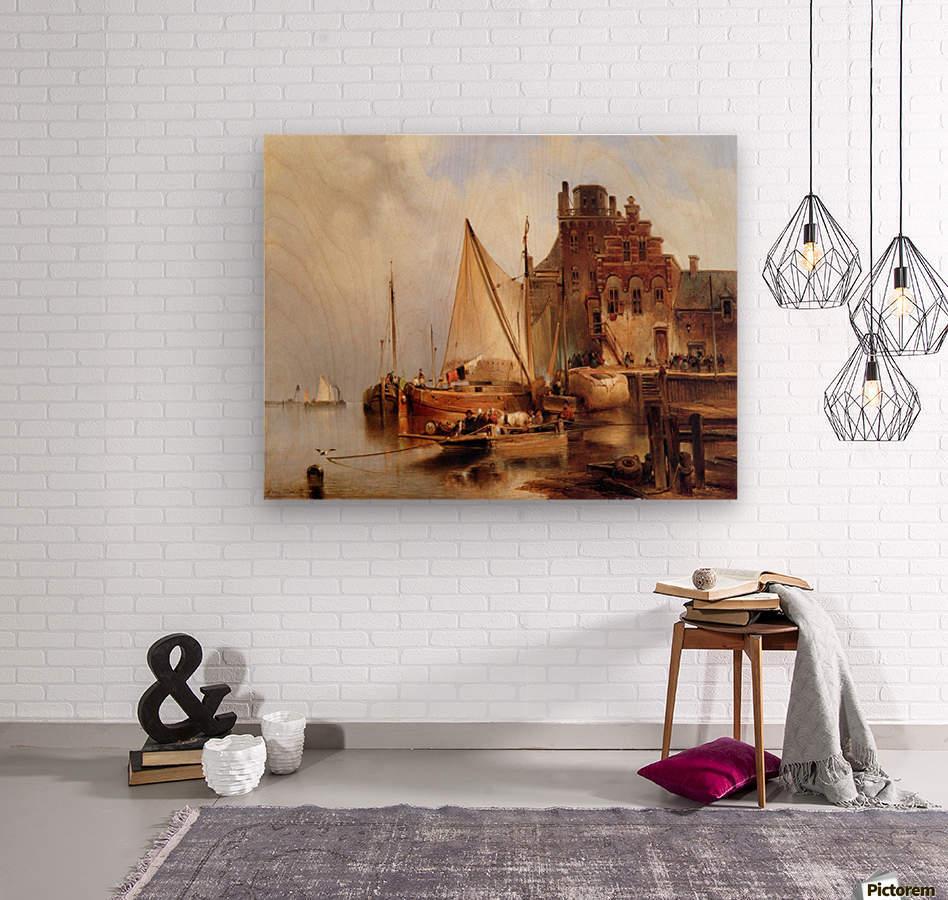Hove van H - The ferry - Sun  Wood print