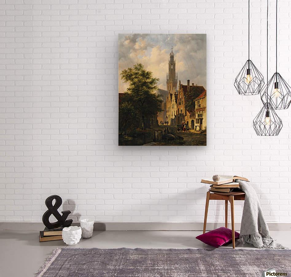 Bakenesserkerk seen from The Valkestraat, Haarlem  Wood print