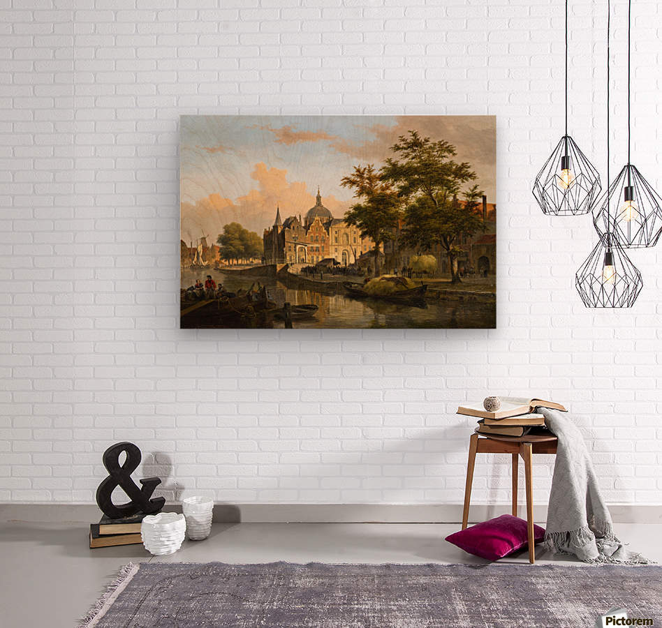 View of a Dutch City  Wood print