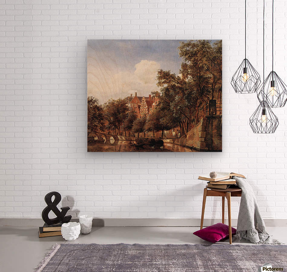 View of the Herengracht, Amsterdam  Wood print
