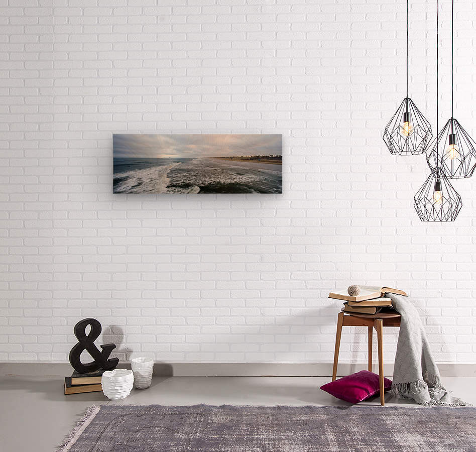 Huntington Beach Panorama  Wood print