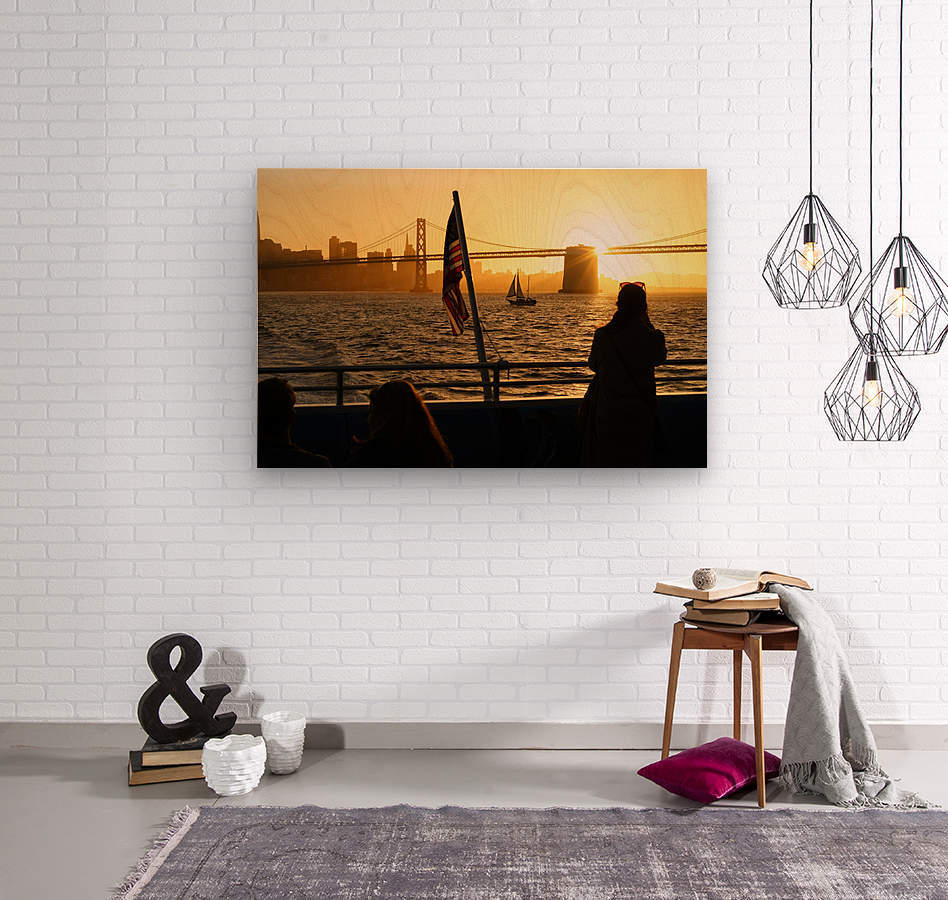 Sunset In The Bay  Wood print