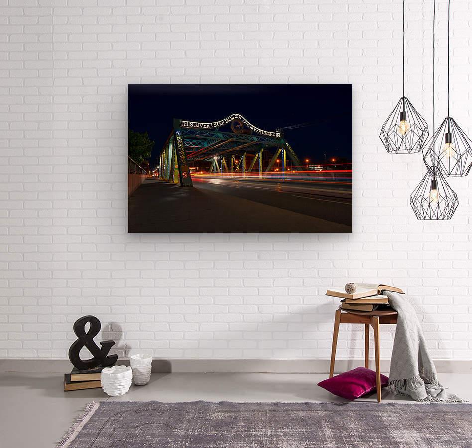 Queen St Viaduct  Wood print
