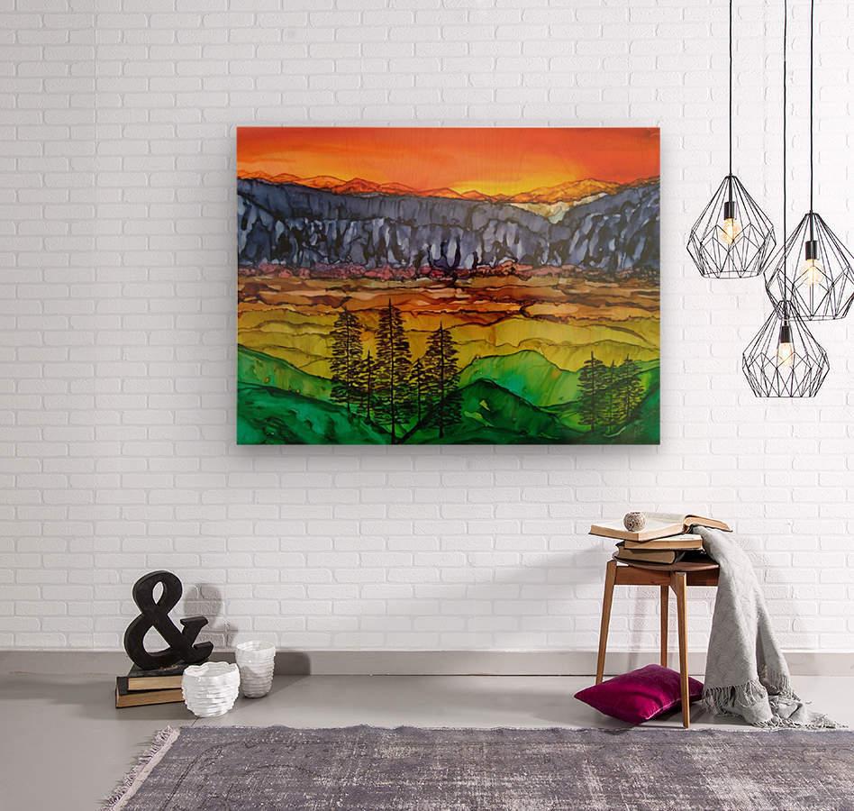 Hidden Canyon  Wood print