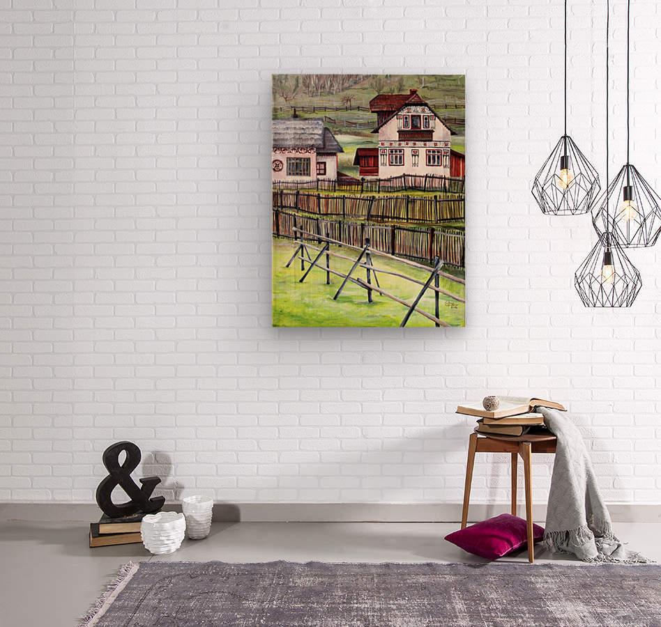 Landscape Transylvania Romania   Wood print