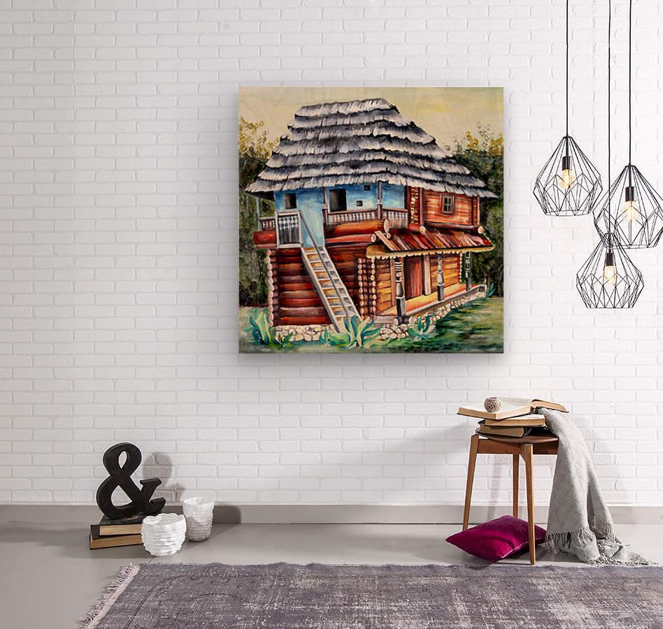 Romania Transylvania  Heritage House  Wood print