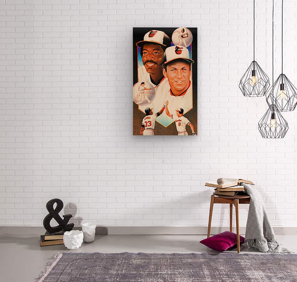 baltimore orioles cal ripken jr art  Wood print
