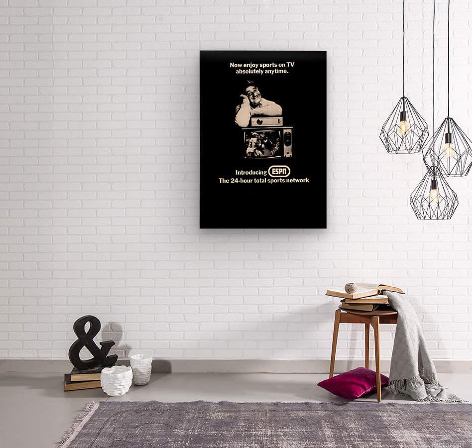 1981 ESPN Print Ad  Wood print