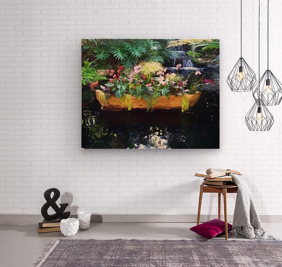 Floating Botanicals  Wood print