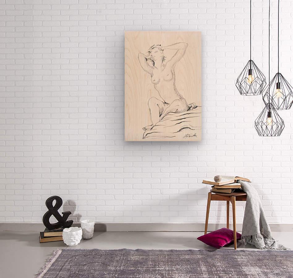 DAPHNE - Carbon  Wood print