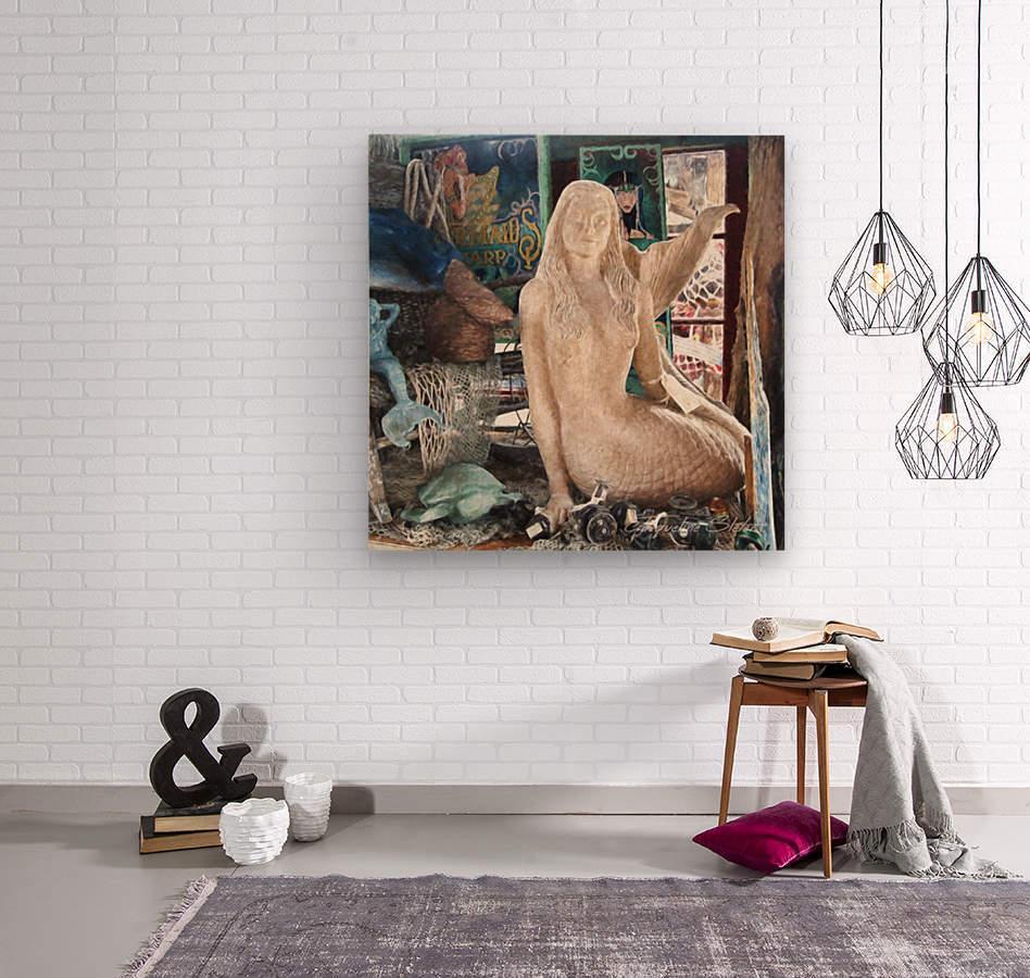 MermaidPondering  Wood print